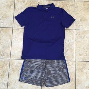 Boy's Under Armour Polo Shirt & Shorts set